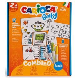 Set articole creative CARIOCA Baby Combino Robots 2+