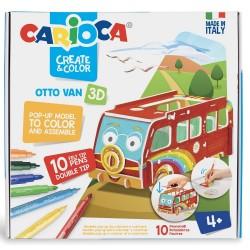 Set articole creative CARIOCA Create & Color - OTTO VAN 3D