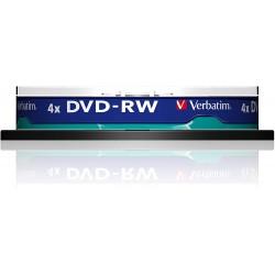 DVD-RW Verbatim SL 4X 4.7GB Spindle Matt Silver, 10 buc/set
