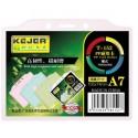 Suport PP, pentru carduri, 105 x 74mm, orizontal cu sistem de agatare, 10 buc/set, KEJEA - transp