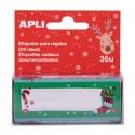 Etichete Apli pentru cadouri, design Craciun, 36 etichete