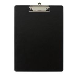 Clipboard simplu Falken, A4, PP, negru, buzunar transparent