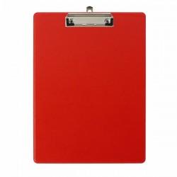 Clipboard simplu Falken, A4, PP, rosu, buzunar transparent