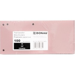 Separatoare carton pentru biblioraft, 190 g/mp, 105 x 235mm, 100/set, DONAU Duo - roz pal