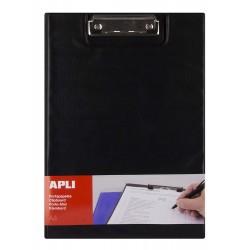 Clipboard dublu Apli, format A4, realizat din polipropilena, negru