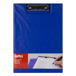 Clipboard dublu Apli, format A4, realizat din polipropilena, albastru