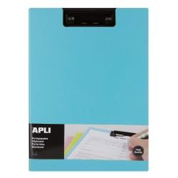 Clipboard dublu premium Apli, format A4, realizat din polipropilena, albastru deschis