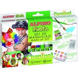 Set machiaj ALPINO Carnival - 6 culori x 5 gr + accesorii