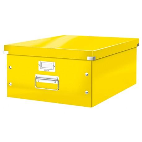 Cutie LEITZ Click & Store mare 369 x 200 x 484 mm, carton laminat - galben