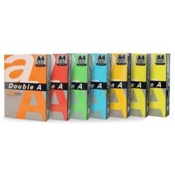 Hartie color pentru copiator A4, 80g/mp, 100coli/top, Double A - 5 culori intense asortate