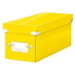 Cutie pentru 30/60 CD-uri, LEITZ Click & Store, carton laminat - galben