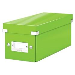 Cutie pentru 30/60 CD-uri, LEITZ Click & Store, carton laminat - verde