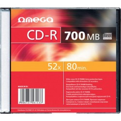 CD-R Omega 52x, 700MB, 80 min, set 10 bucati slim