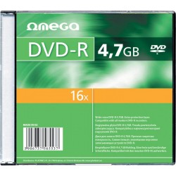 DVD-R Omega 16x, 4,7GB, 120 min, set 10 bucati slim