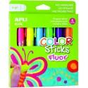 Tempera solida APLI 6 culori fluorescente asortate