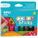 Tempera solida APLI 6 culori asortate
