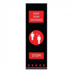 Covor avertizare pentru pardoseli, People, 0.65 x 2 m, rosu