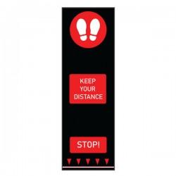Covor avertizare pentru pardoseli, Footprints, 0.65 x 2 m, rosu
