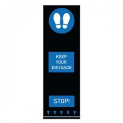 Covor avertizare pentru pardoseli, Footprints, 0.65 x 2 m, albastru