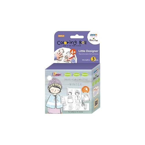 Cutie creativa cu role pentru colorat, 3 buc/set, Stick