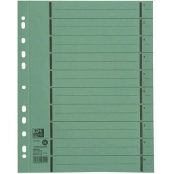 Separatoare carton manila 250g/mp, 300 x 240mm, 100/set, OXFORD - verde