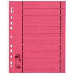 Separatoare carton manila, 250g/mp, 300 x 240mm, 100/set, OXFORD - rosu