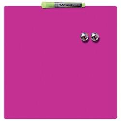 Tabla NOBO magnetica patrata, 360x360mm, roz