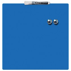 Tabla NOBO magnetica patrata, 360x360mm, albastru