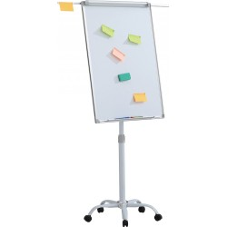 Flipchart magnetic, 100 x 70 cm, cu brate laterale, cu rotile, Office Products