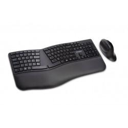 Kit tastatura + mouse Kensington ProFit Ergo, conexiune wireless, negru