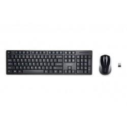 Kit tastatura + mouse Kensington ProFit Low-Profile, conexiune wireless, negru