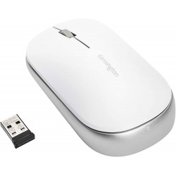 Mouse Kensington SureTrack, conexiune wireless sau bluetooth, dimensiune medie, alb