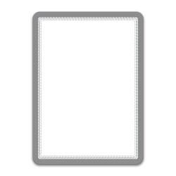 Buzunar magnetic pentru documente A4, cu rama color, 2 buc/set, TARIFOLD - rama argintie