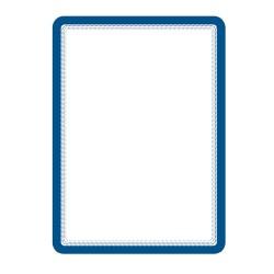 Buzunar magnetic pentru documente A4, cu rama color, 2 buc/set, TARIFOLD - rama albastra