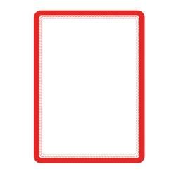 Buzunar magnetic pentru documente A4, cu rama color, 2 buc/set, TARIFOLD - rama rosie