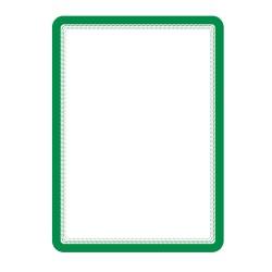 Buzunar magnetic pentru documente A4, cu rama color, 2 buc/set, TARIFOLD - rama verde