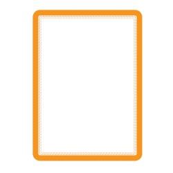 Buzunar magnetic pentru documente A4, cu rama color, 2 buc/set, TARIFOLD - rama portocalie