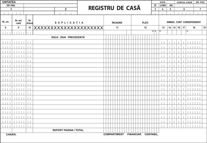 Registru de casa fata, 3/A4, fata, 3 carnet/set