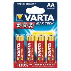 Baterii Varta Max Tech LR6, AA, 4 bucati/blister