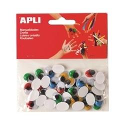 Set ochisori adezivi Apli, ovali, diverse culori, 100 bucati/set
