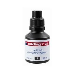 Tus Edding T25, pentru markere permanente, 30 ml, negru