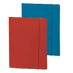 Dosar din carton lucios cu elastic, albastru
