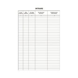 Registru de intrare-iesire, A4, fata/verso, 3 carnete a 100 file/set