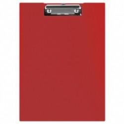 Clipboard, rosu, dublu, A4, carton plastifiat
